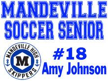 Mandeville High School Senior Soccer Yard Sign