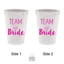 Bachelorette Team Bride Frost Flex Plastic Cups