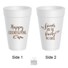 Thanksgiving Friendsgiving Styrofoam Cups