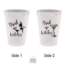 Halloween Drink Up Witches Martini Frost Flex Plastic Cups