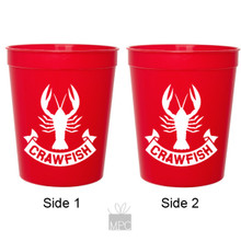 Crawfish Banner Red Stadium Plastic Cups