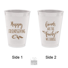 Thanksgiving Friendsgiving Frost Flex Plastic Cups