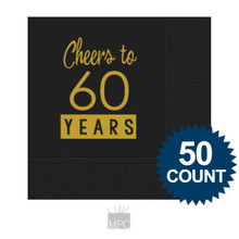60th Birthday Napkins, Cheers to 60 Years