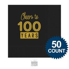 100th Birthday Napkins, Cheers to 100 Years
