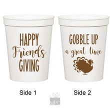 Thanksgiving Friendsgiving, Gobble Up A Great Time White Stadium Plastic Cups