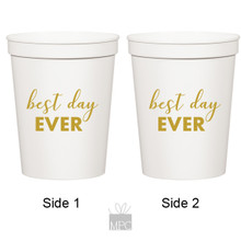 Wedding Best Day Ever White Stadium Plastic Cups