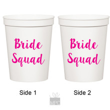 Bachelorette, Bride Squad, White Stadium Plastic Cups