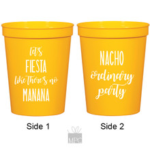 Let's Fiesta, Nacho Ordinary Party Yellow Stadium Plastic Cups