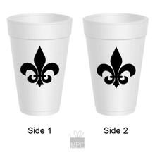 Fleur De Lis Bold Styrofoam Cups