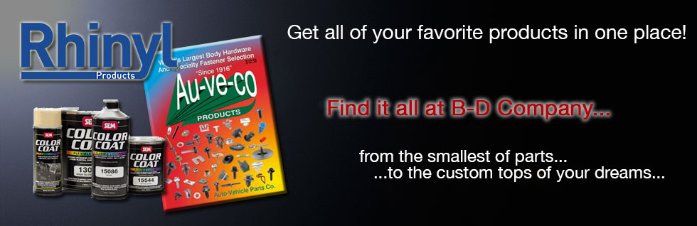 All your aftermarket automotive needs met in one place: B=D Company.