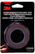"3M™ Scotch-Mount™ ½"" x 5ft Black Automotive Acrylic Attachment Tape"
