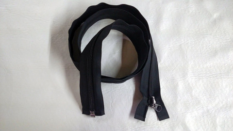 """Complete 59"""" Zipper with Coil Side Zipper Slide"""