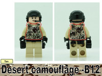 Desert Camo Printed B12 Tactical Vest