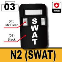 """Printed """"SWAT"""" Bulletproof Shield N2"""