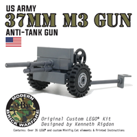World War 2 M3 37mm Anti-Tank Gun