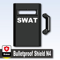 "Printed ""SWAT"" Bulletproof Shield N4"