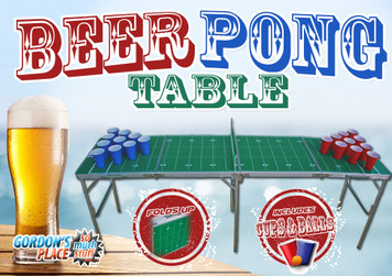 Fold Up 8ft Professional Beer Pong Table with Cups, Balls & Net