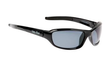 Ugly Fish Basic Polarised Sunglasses P1077 Shiny Black Frame Smoke Lens