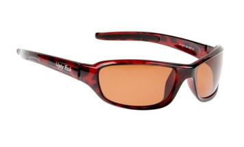 Ugly Fish Basic Polarised Sunglasses P1077 Shiny Brown Frame Brown Lens