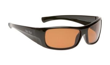 Ugly Fish Basic Polarised Sunglasses P3044 Black Frame Brown Lens