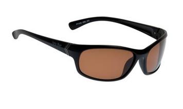 Ugly Fish TR-90 Polarised Sunglasses P7338 Matt Black Frame Brown Lens