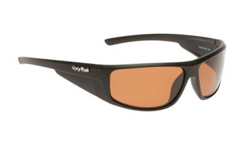 Ugly Fish TR-90 Polarised Sunglasses P8084 Matt Black Frame Brown Lens