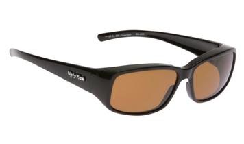 Ugly Fish Polarised P106 Over Sunglasses Black TR-90 Frame Brown Lens