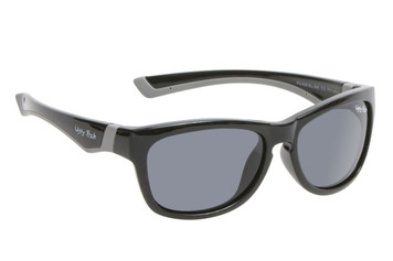 Ugly Fish Junior Polarised Sunglasses PK488 Shiny Black Frame Smoke Lens