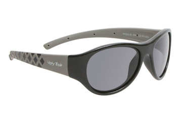 Ugly Fish Junior Polarised Sunglasses PK922 Shiny Black Frame Smoke Lens