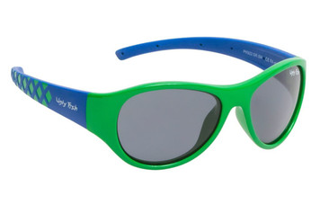 Ugly Fish Junior Polarised Sunglasses PK922 Green Frame Smoke Lens