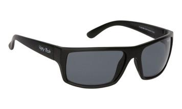 Ugly Fish Basic Polarised Sunglasses P1202 Matt Black Frame Smoke Lens