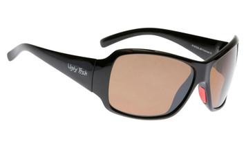 Ugly Fish Basic Polarised Sunglasses P1475 Shiny Black Frame Brown Lens
