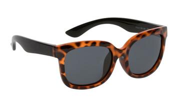 Ugly Fish Polarised Sunglasses PKM511 Leopard Print Frame Smoke Lens