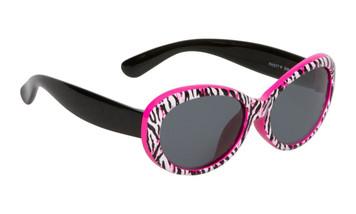 Ugly Fish Polarised Sunglasses PKM577 Pink Tiger Print Frame Smoke Lens
