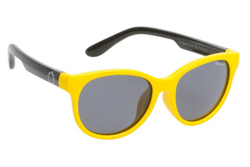 Ugly Fish Polarised Sunglasses PKM506 Yellow Frame Smoke Lens