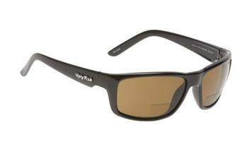 Ugly Fish Polarised Bifocal 1.50 Sunglasses Xenon PN3252 Black Frame Brown Lens