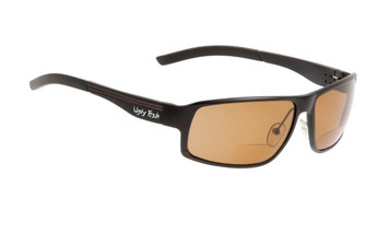 Ugly Fish Polarised Bifocal 1.50 Sunglasses Avalanche PN24203 Matt Black Frame Brown Lens