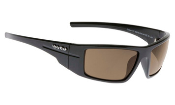 Ugly Fish Polarised Crater Sunglasses PC3095 Black Frame Brown PC Lens