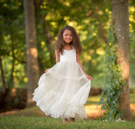 Ivory Satin Sweetheart Dress
