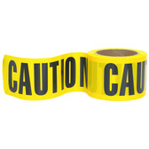 'CAUTION' - Clearly Marked Tape with 'CAUTION' copied on the surface area, Yellow tape with a bold black text font.  Ideal for labelling your more sensitive and high risk products and areas.  Sold in boxes of 36 rolls these pre-printed tape rolls are a must for your safety needs.