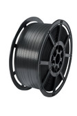 Polypropylene machine strapping reel 9mm x 4000m. Supplied on a 200/190mm cardboard core