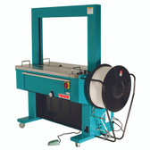 Automatic strapping machine for PP strapping from 8-15.5mm wide