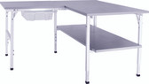 Packing station complete work station W160 x D160cm x H70-92cm