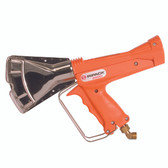 Ripack 2200 pallet shrink gun. Includes 8m hose with swivel connection, regulator, carry case, & accessories
