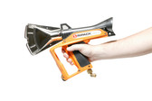 Ripack 3000 high output pallet shrink gun. Includes 8m hose with swivel connection, regulator, & carry case
