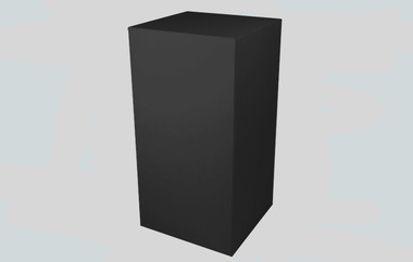 Black Display Plinths