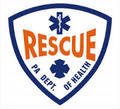 "4"" PA D.O.H. Rescue Window Sticker"