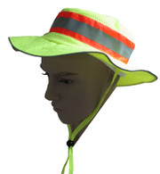 ANSI Lime Full Brimmed Ranger Style Hats