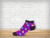 Purple Polka Anklet