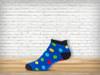 Blue Polka Anklet